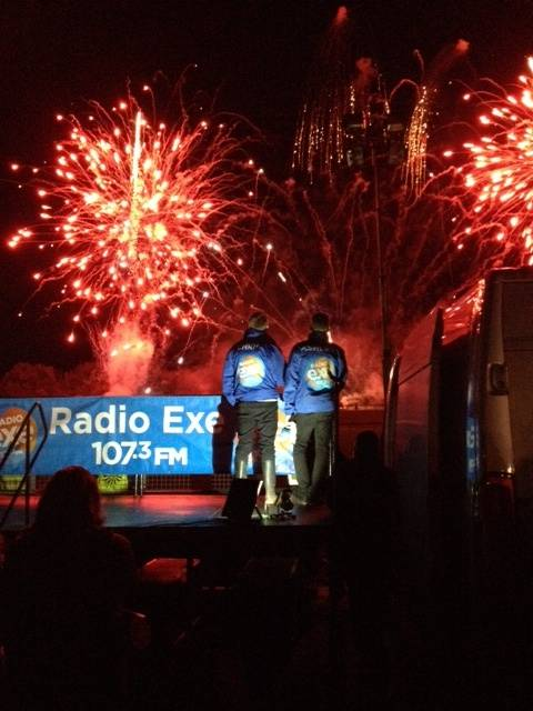 Radio Exe's Ashley Jeary and Chris Dinnis hosted this years Round Table charity fireworks display at Westpoint.