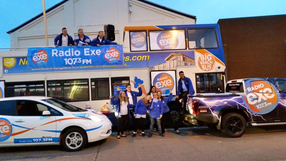 Ashley Jeary and the crew joined in with the fun at Exmouth Carnival.