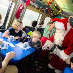 be part of the magic this festive season and climb aboard the train to christmas town - Train To Christmas Town