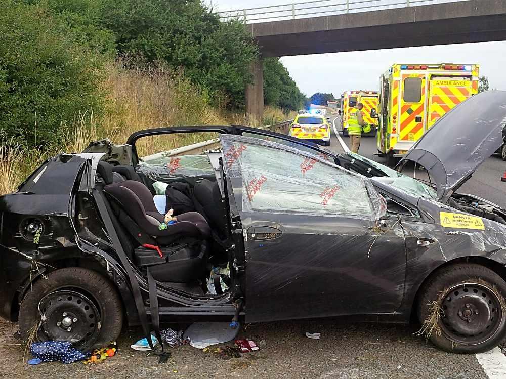 Car Seat Saves Baby After Crash On M40 Near Banbury