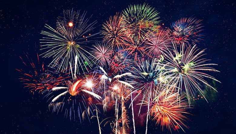 Bang. Ooh. Aah. Fireworks.