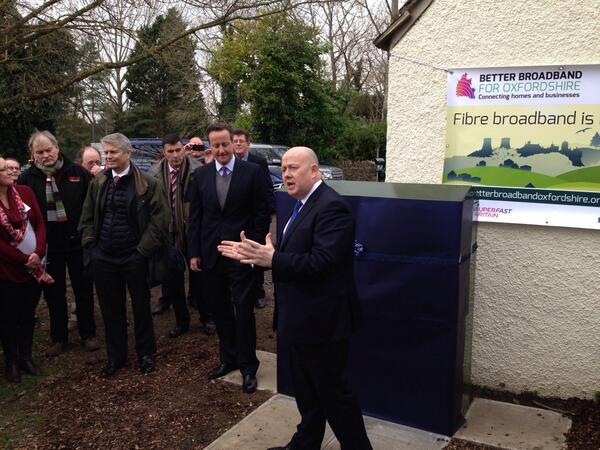 Pm David Cameron Joins Broadband 39 Switching On 39 In West