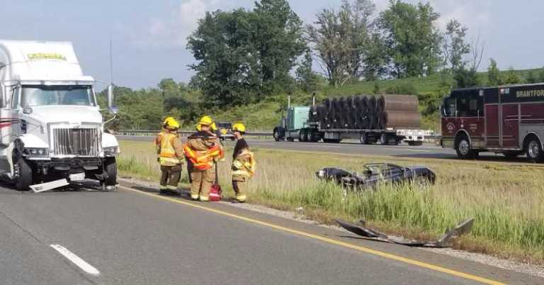 Multiple Crashes Shut Down the 403 Yesterday Afternoon - 104 7 Heart FM