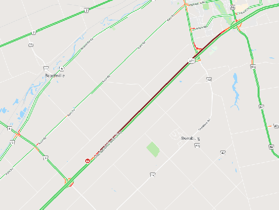 401 Lanes Remain Closed After Tractor Trailer Roll Over - 104 7 Heart FM