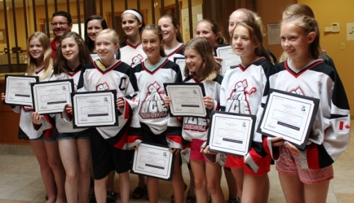 Ingersoll girls hockey