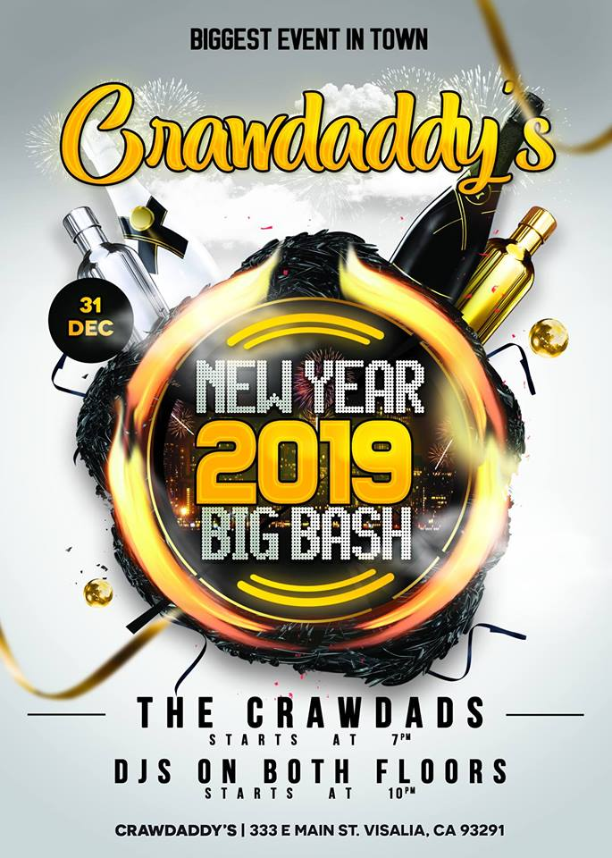 Dont Miss The Biggest Event In Town With Crawdaddys New Years Eve Bash Starting December 31st At 7 Pm Crawdads Band