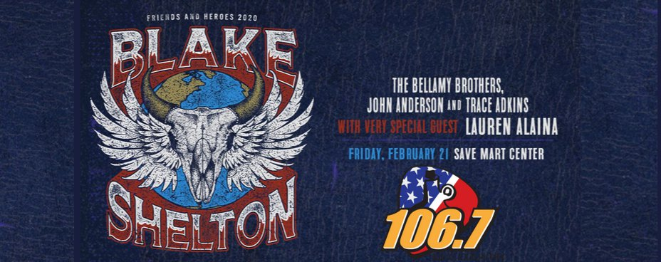 Blake Shelton Friends and Heroes Tour 2020
