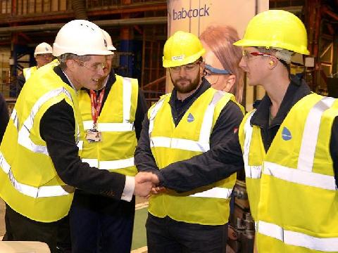 Defence Secretary visits Appledore Yard