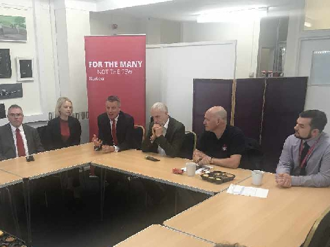 Labour Leader visits Devonport to discuss Fire Safety