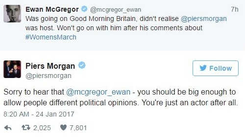 Watch: Ewan McGregor Pulls Out Of Good Morning Britain Interview After Piers Morgan Spat