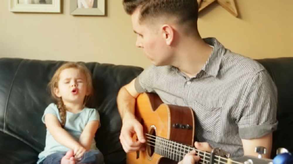 WATCH: You Need To Hear This Dad & 4 Year Old Daughter Duet!