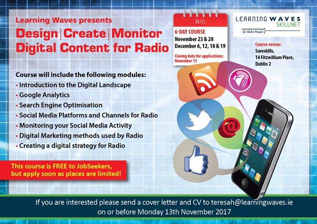 Free Digital for Radio Course For Job Seekers & Graduates