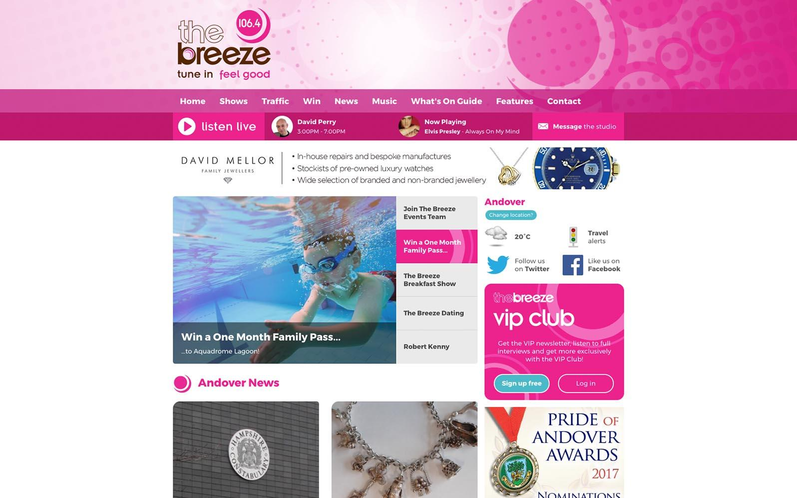 The Breeze Homepage