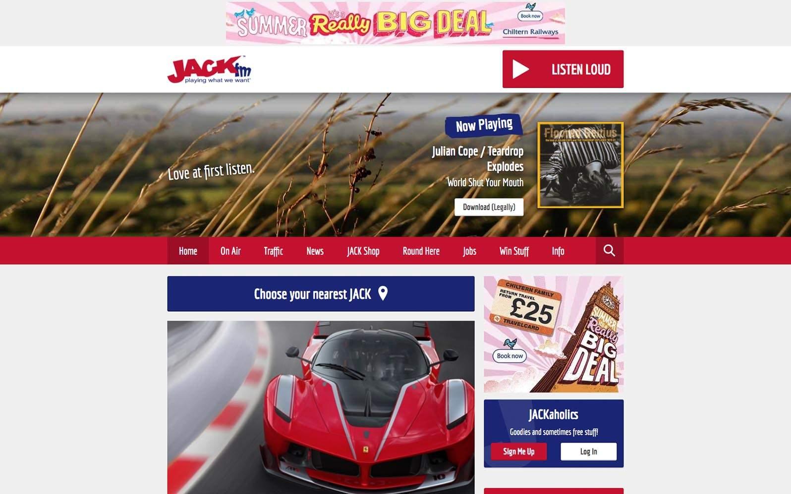 JACK FM Homepage