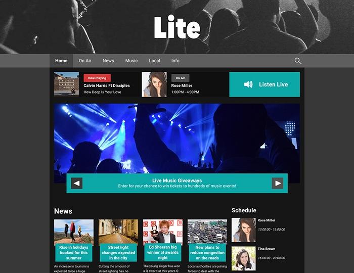 radio station website cms | Template