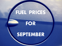 Fuel prices for September.