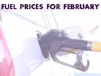 Fuel prices for February 2018