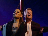 Ariana Grande & James Corden and the soundtrack to Titanic!