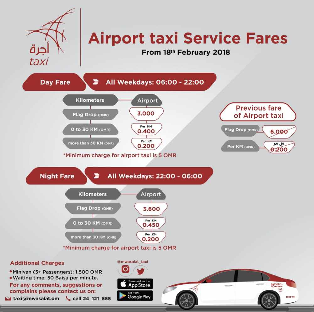 Mwasalat discuss airport taxi fare - Hi FM Radio, Oman