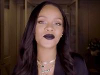 Rihanna's Black Lipstick Tutorial For Halloween