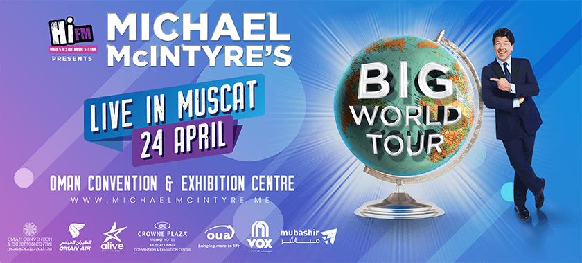 MICHAEL McINTYRE LIVE IN MUSCAT