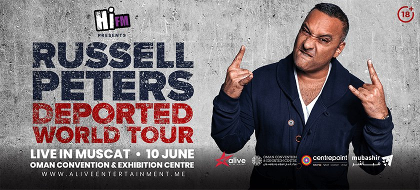 RUSSELL PETERS LIVE IN MUSCAT