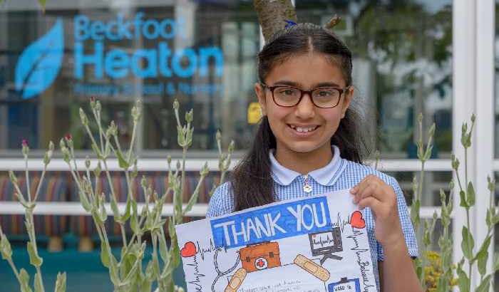 Youngster scoops regional prize in national careers contest with heartfelt message to NHS staff