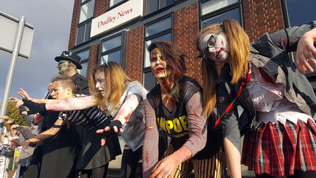 Zombies Descend On Town As Music Video Is Filmed In Stourbridge