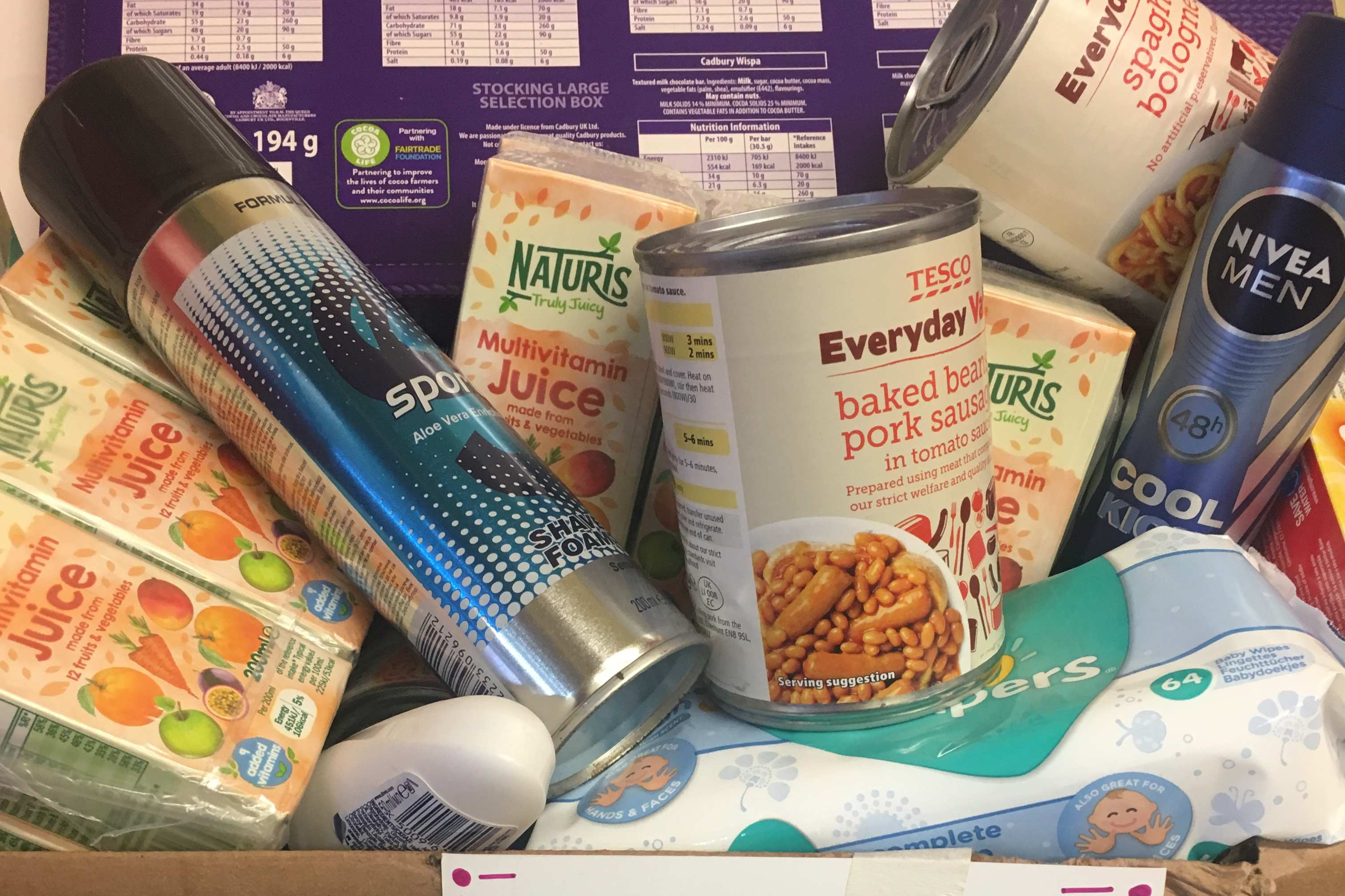 Local Cafe Donates A Hamper Of Essentials To Local Food Bank