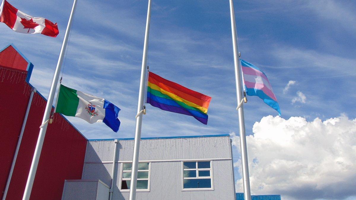 transgender flag raised in whitehorse for pride month 96 1 the rush