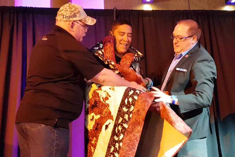 Yukon veteran awarded Quilt of Valour