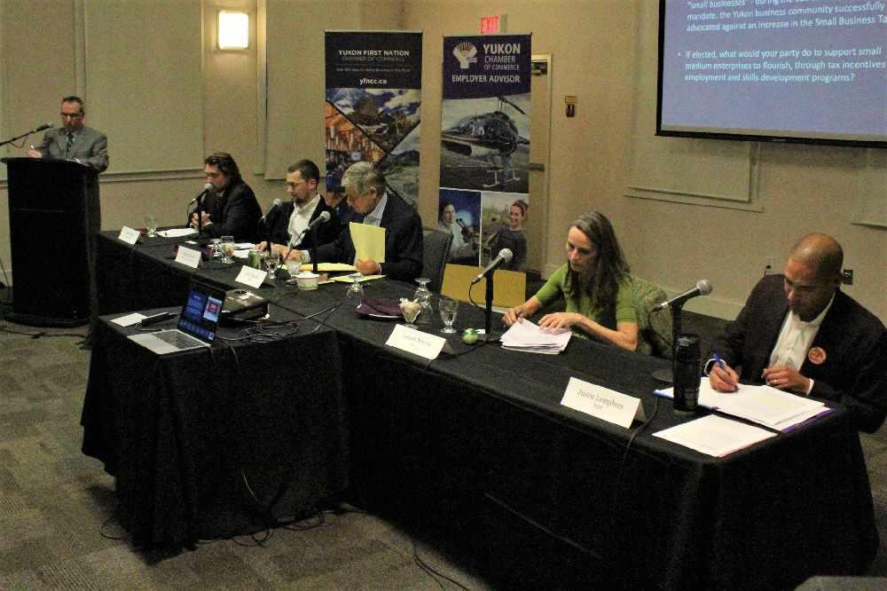 Yukon candidates talk business