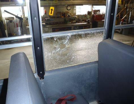 Bullet Shatters Juneau School Bus Window Two Students Still On Bus