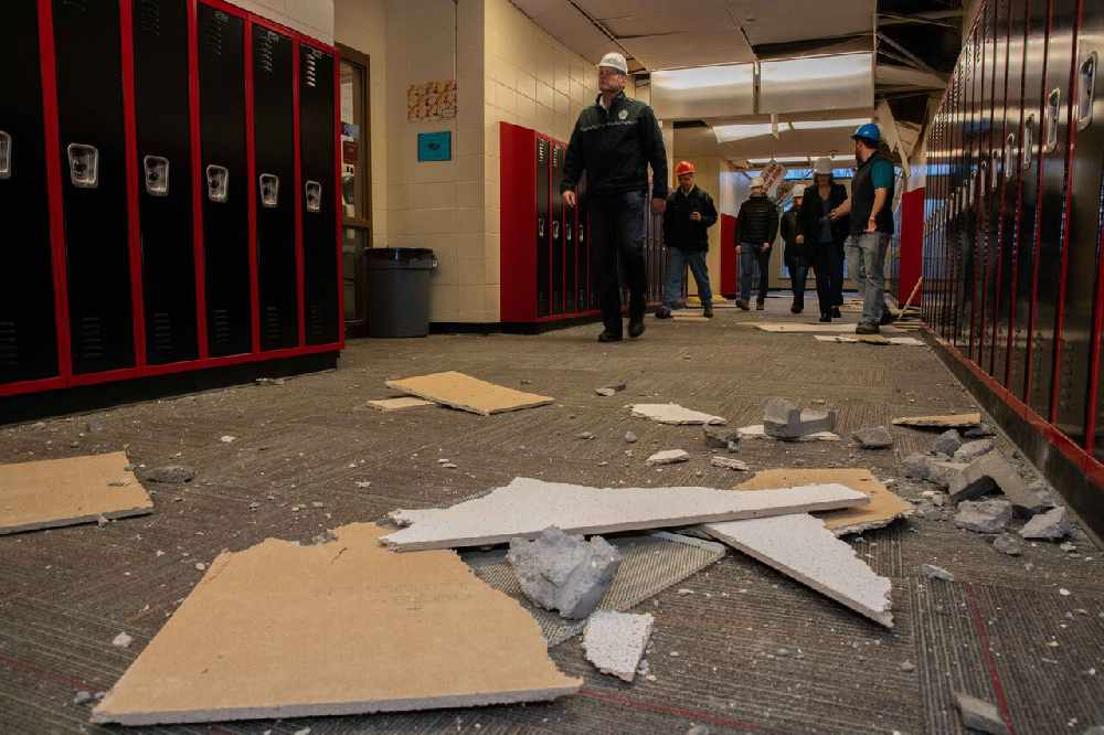 Gov Elect Dunleavy Officials Tour Damaged Schools In Mat Su