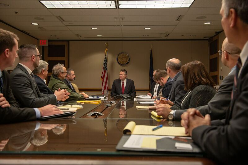 Gov Dunleavy Holds First Cabinet Meeting In Anchorage Kiny