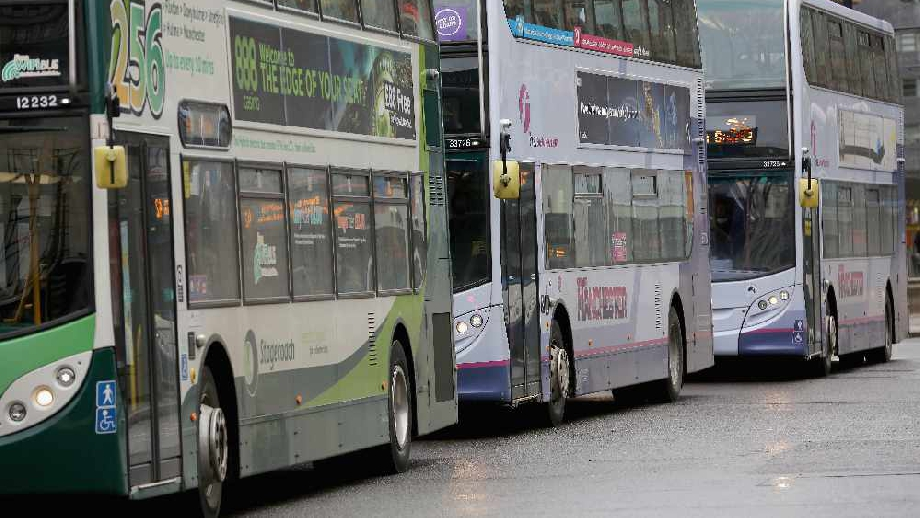Manchester buses, cropped