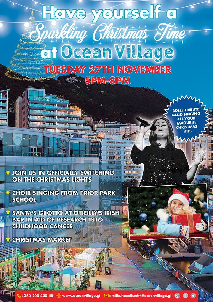 Switching on Christmas Lights in Ocean Village - Rock Radio
