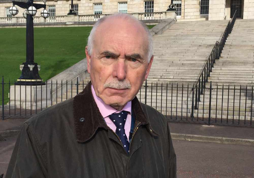 Geoff Knupfer head of independent commission for the location of victims remains at silent walk at Stormont, Belfast.