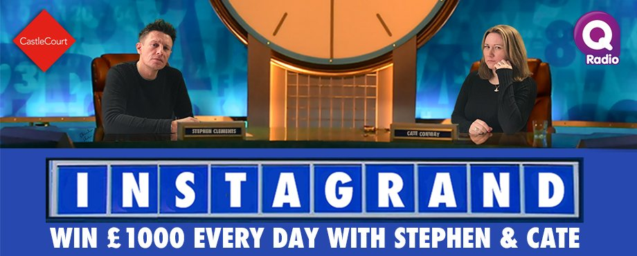 Win £1,000 with Stephen & Cate on Q Breakfast each day