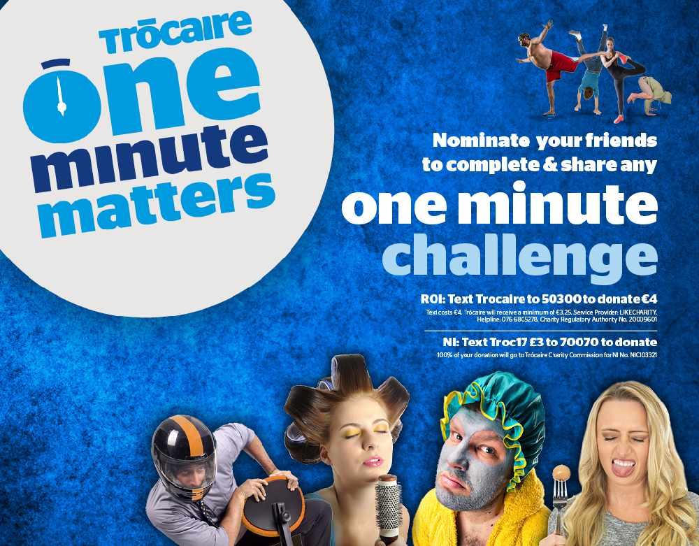 Trocaire One Minute Matters