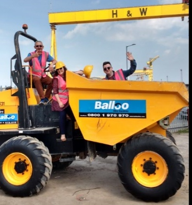 Owen & Yazz visiting Balloo Hire