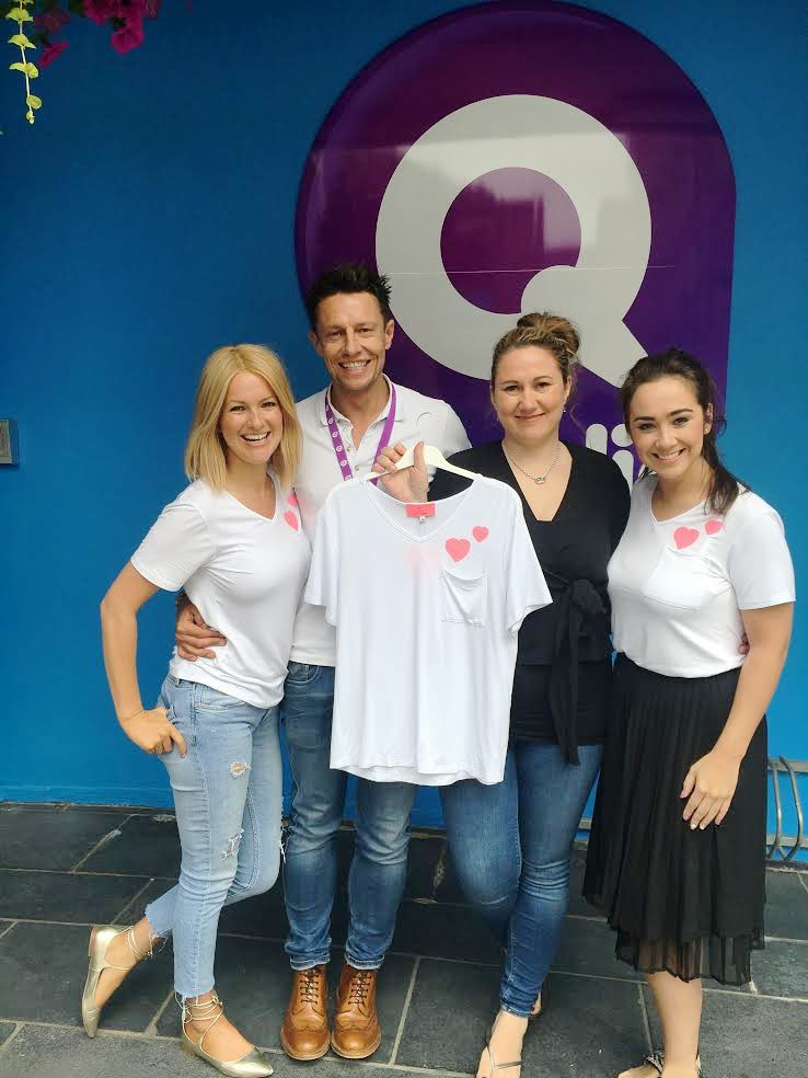 Stephen Clements, Cate Conway, Laura Parkinson and Donna Ross at Q Radio QHQ