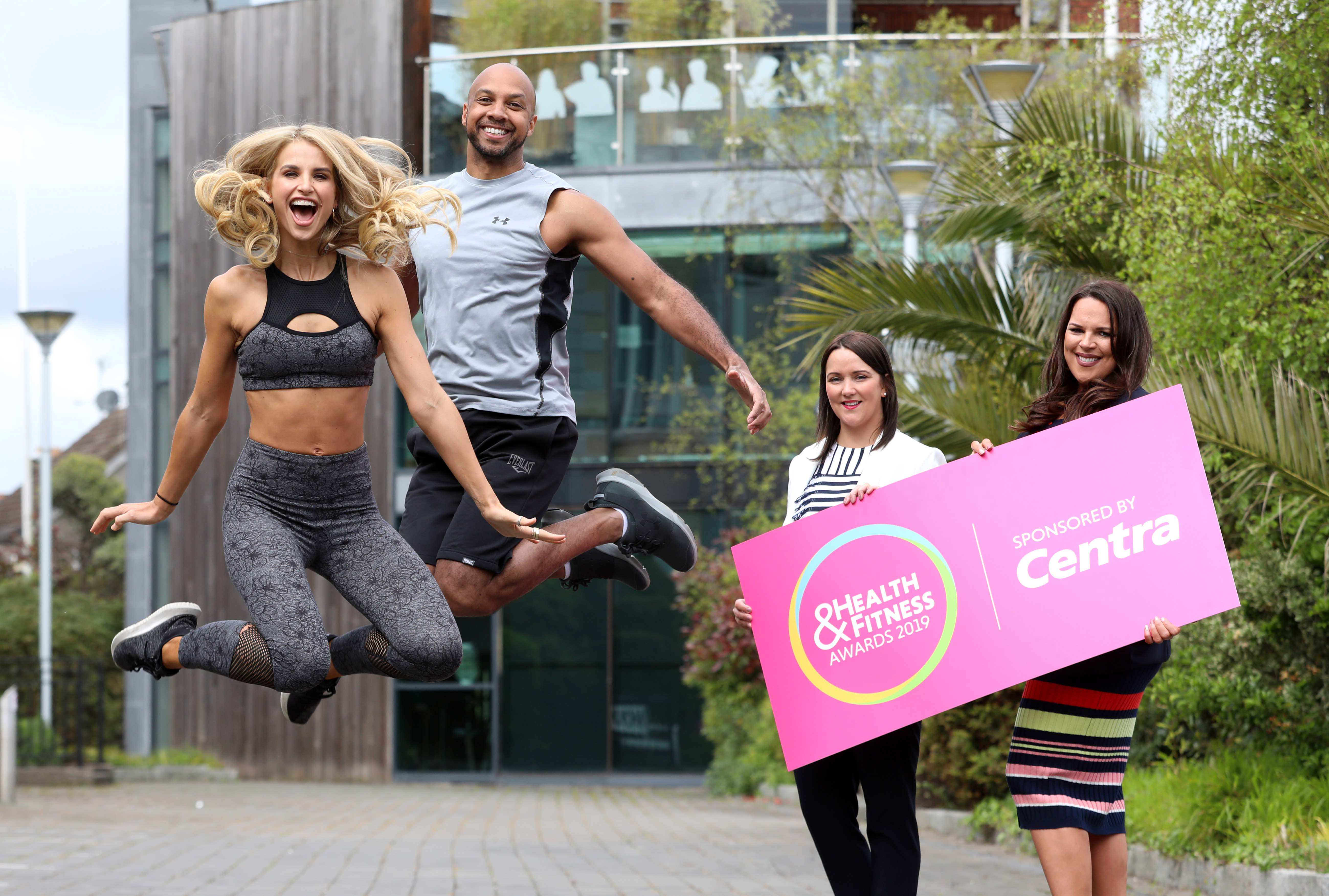Pictured: Jennifer Morton, Centra NI Brand Manager and Sarah Weir, Director of Weir Events are pictured at the launch of the 2019 Northern Ireland Health and Fitness Awards sponsored by Centra with event co-hosts and well-known fitness advocates, Q Radio presenter Ibe Sesay and TV personality, Vogue Williams.