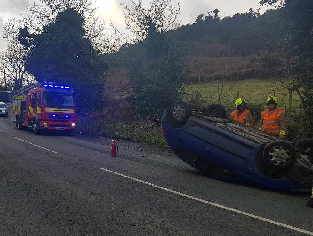 Firefighters called out in west after crash