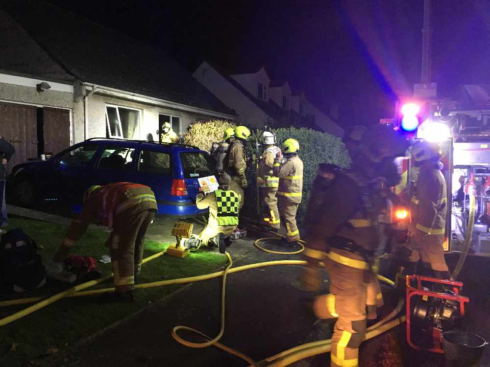 Dog saved from Port Erin fire