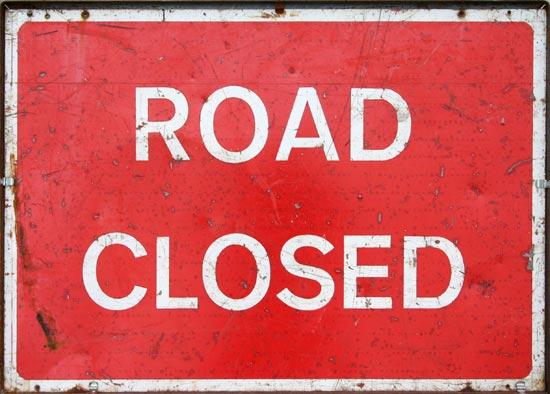 Road closure after water main bursts
