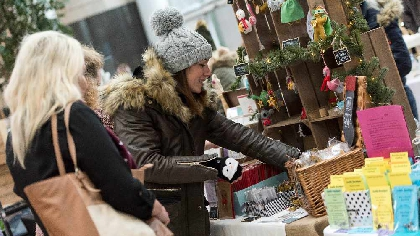 intu Christmas market