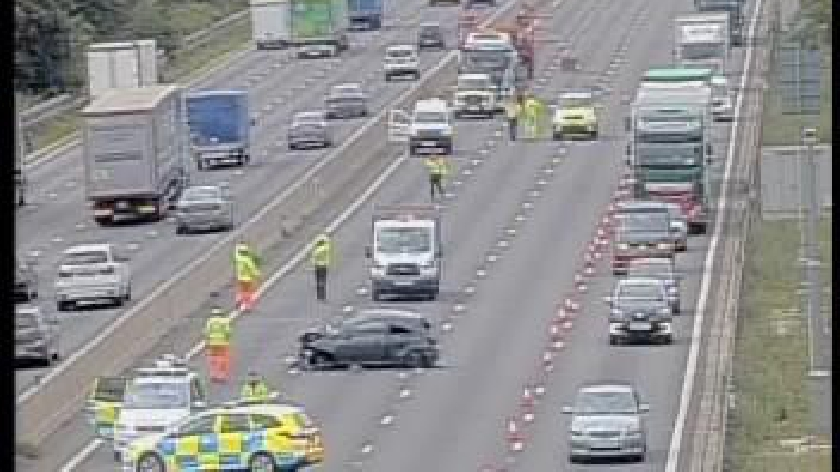 M1 CLOSED near Milton Keynes with long delays due to