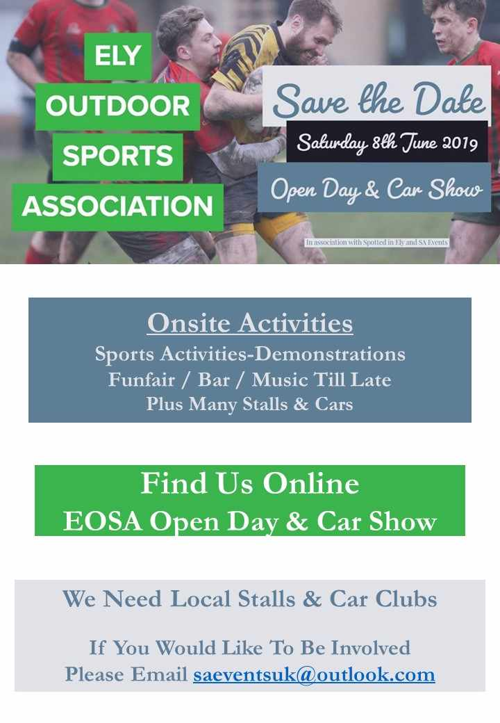 Ely Outdoor Sports Association Open Day & Car Show - Star Radio