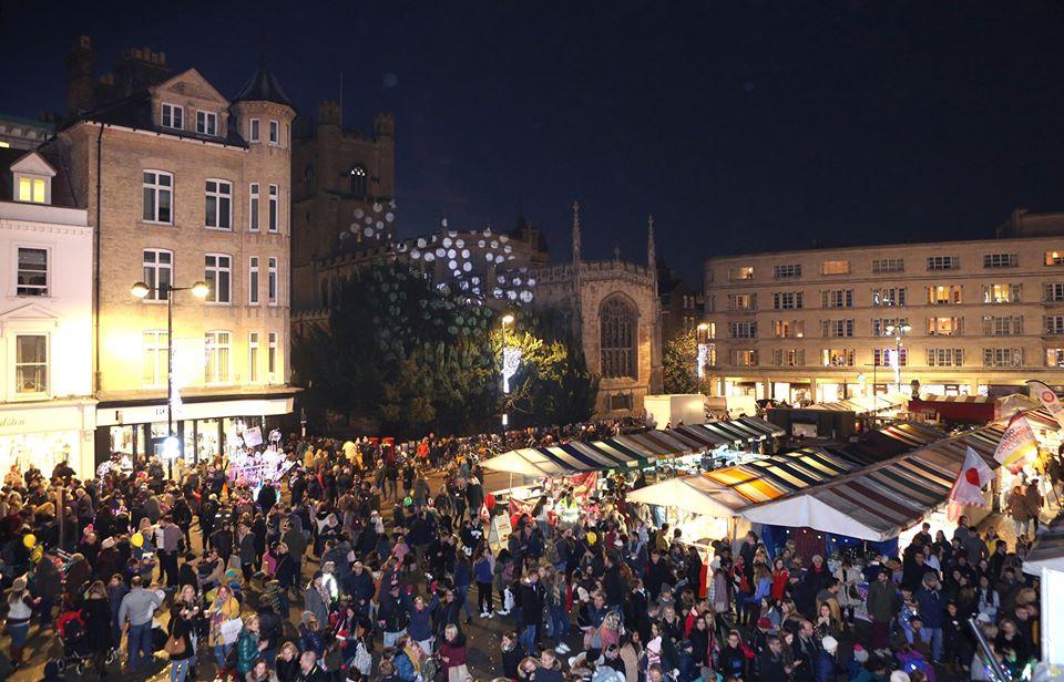 Cambridge Market Square Christmas Lights